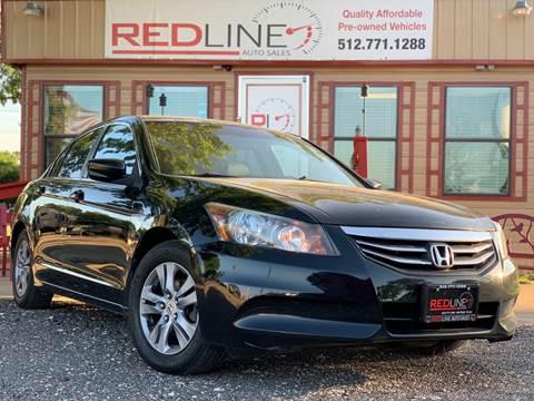 2011 Honda Accord for sale at REDLINE AUTO SALES LLC in Cedar Creek TX