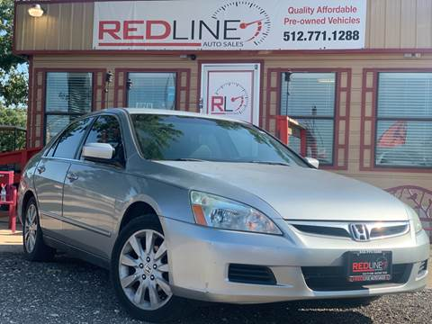 2007 Honda Accord for sale at REDLINE AUTO SALES LLC in Cedar Creek TX