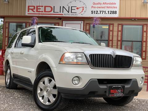 2003 Lincoln Aviator for sale at REDLINE AUTO SALES LLC in Cedar Creek TX
