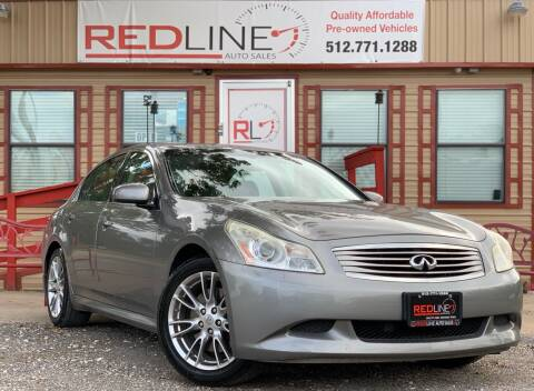 2008 Infiniti G35 for sale at REDLINE AUTO SALES LLC in Cedar Creek TX