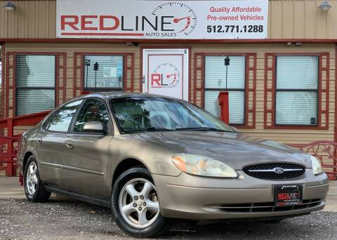 2002 Ford Taurus for sale at REDLINE AUTO SALES LLC in Cedar Creek TX
