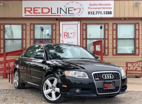 2008 Audi A4 for sale at REDLINE AUTO SALES LLC in Cedar Creek TX