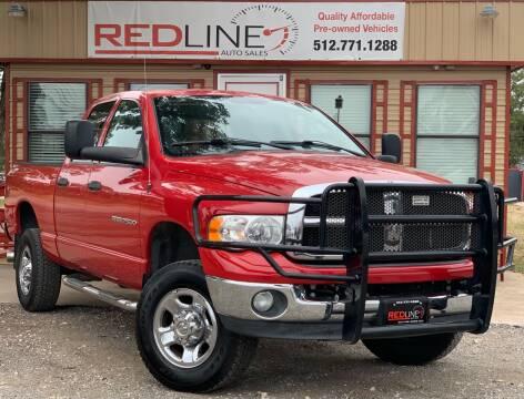 2004 Dodge Ram Pickup 2500 for sale at REDLINE AUTO SALES LLC in Cedar Creek TX