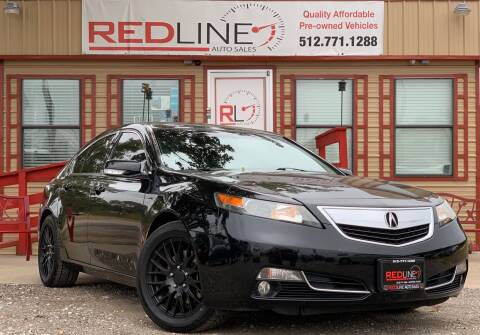 2014 Acura TL for sale at REDLINE AUTO SALES LLC in Cedar Creek TX