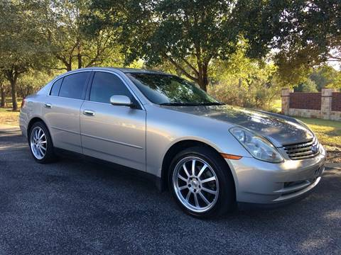 2004 Infiniti G35 for sale at REDLINE AUTO SALES LLC in Cedar Creek TX