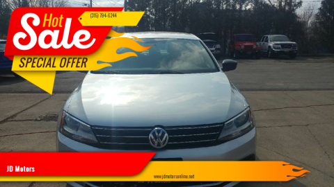 2015 Volkswagen Jetta for sale at JD Motors in Fulton NY