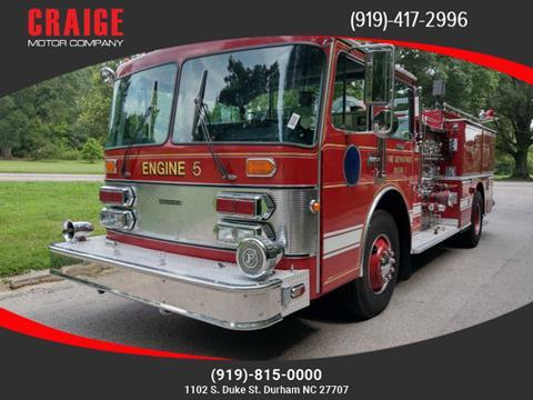 1986 Grumman Fire Truck for sale in Durham, NC