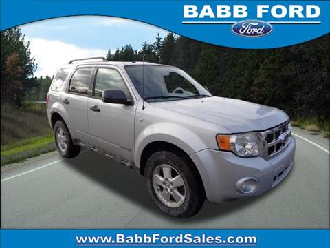 2008 Ford Escape for sale in Reed City, MI