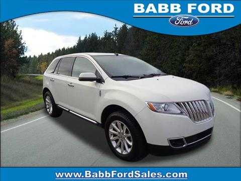 2013 Lincoln MKX for sale in Reed City, MI