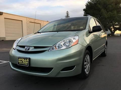2008 Toyota Sienna for sale at APOLLO AUTO SALES in Sacramento CA