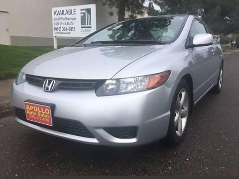 2008 Honda Civic for sale at APOLLO AUTO SALES in Sacramento CA