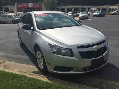 2012 Chevrolet Cruze for sale at Fast Auto Sales in Monroe GA