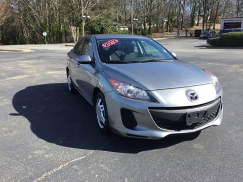 2012 Mazda MAZDA3 for sale at Fast Auto Sales in Monroe GA