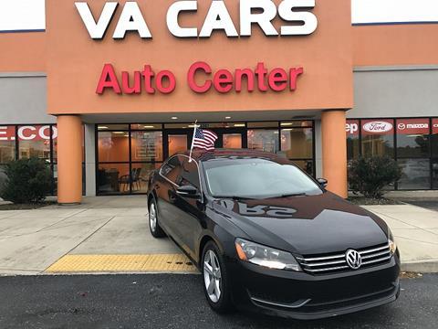 2013 Volkswagen Passat for sale in Hopewell VA