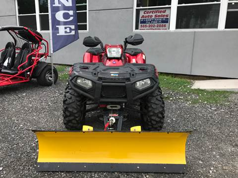 2009 Polaris sportsman for sale at CERTIFIED AUTO SALES in Le Roy NY