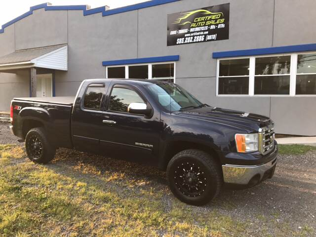 2010 GMC Sierra 1500 for sale at CERTIFIED AUTO SALES in Le Roy NY