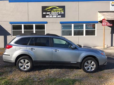 2012 Subaru Outback for sale at CERTIFIED AUTO SALES in Le Roy NY