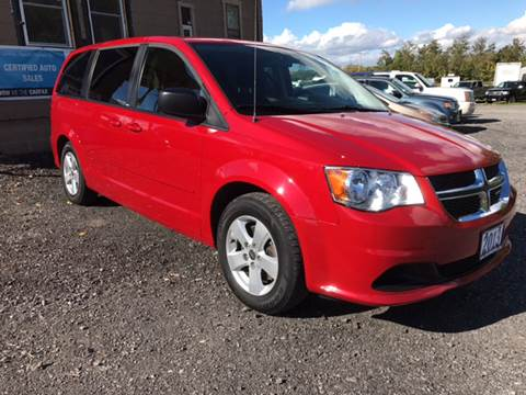 2013 Dodge Grand Caravan for sale at CERTIFIED AUTO SALES in Le Roy NY