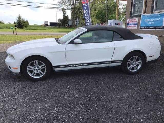 2011 Ford Mustang for sale at CERTIFIED AUTO SALES in Le Roy NY