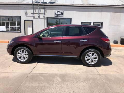 2014 Nissan Murano for sale at McCarty Motors LLC in Longmont CO
