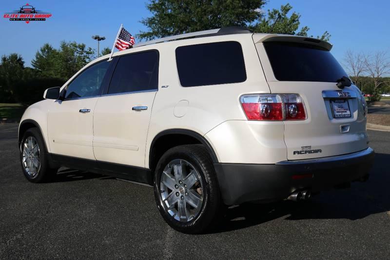 2010 GMC Acadia for sale at ELITE AUTO GROUP in Fredericksburg VA