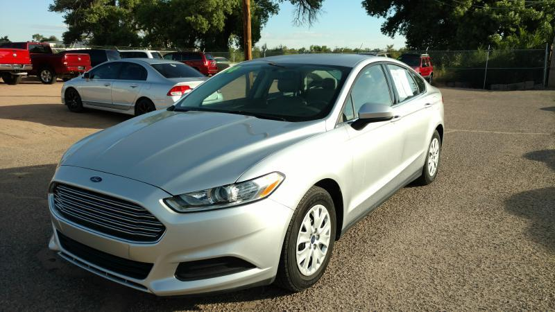 2014 Ford Fusion for sale at AUGE'S SALES AND SERVICE in Belen NM