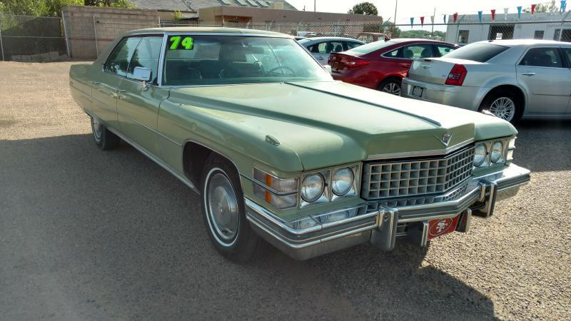 1974 Cadillac SEDAN DE VILLE for sale at AUGE'S SALES AND SERVICE in Belen NM