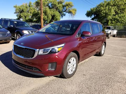 2016 Kia Sedona for sale at AUGE'S SALES AND SERVICE in Belen NM