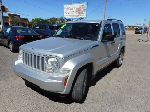2012 Jeep Liberty for sale at AUGE'S SALES AND SERVICE in Belen NM