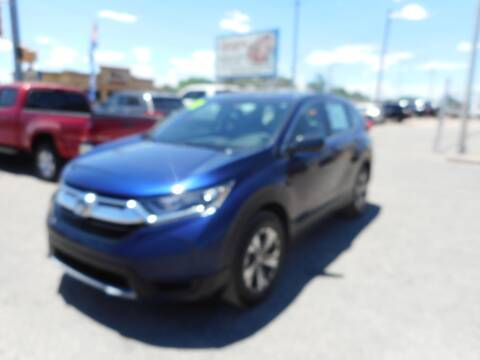 2017 Honda CR-V for sale at AUGE'S SALES AND SERVICE in Belen NM