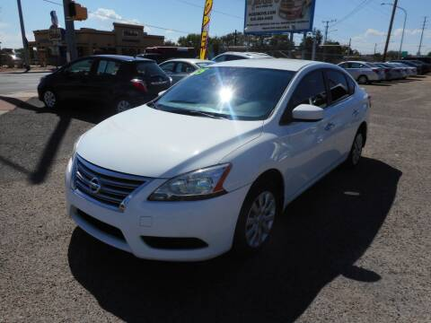 2015 Nissan Sentra for sale at AUGE'S SALES AND SERVICE in Belen NM