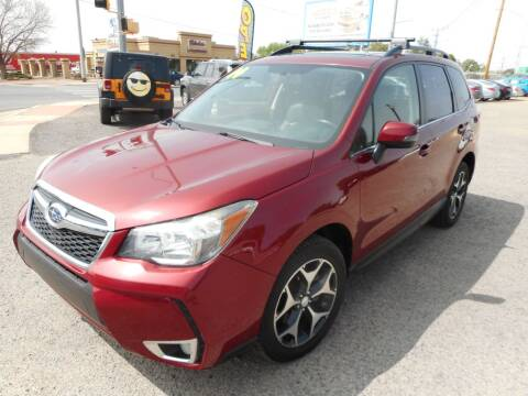 2014 Subaru Forester for sale at AUGE'S SALES AND SERVICE in Belen NM