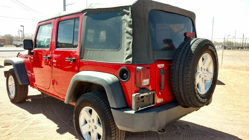 2010 Jeep Wrangler Unlimited for sale at AUGE'S SALES AND SERVICE in Belen NM