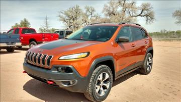 2016 Jeep Cherokee for sale at AUGE'S SALES AND SERVICE in Belen NM