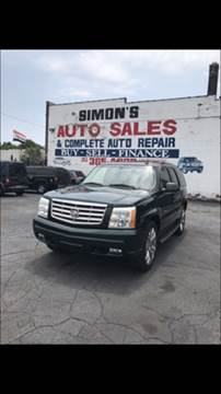 2002 Cadillac Escalade for sale at Simon's Auto Sales in Detroit MI