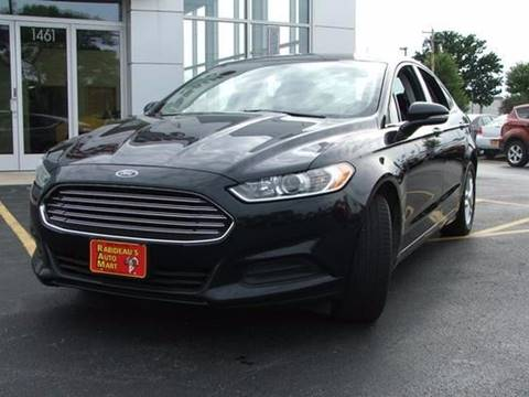 2014 Ford Fusion for sale at RABIDEAU'S AUTO MART in Green Bay WI