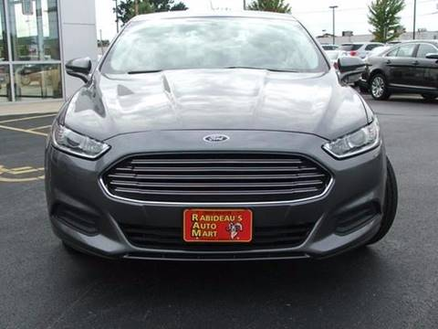 2013 Ford Fusion for sale at RABIDEAU'S AUTO MART in Green Bay WI