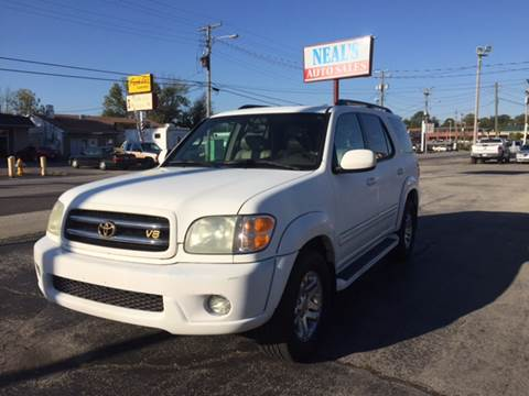 2003 Toyota Sequoia for sale at Neals Auto Sales in Louisville KY