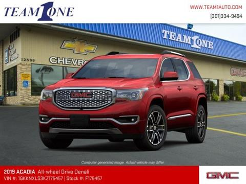 2019 GMC Acadia for sale in Oakland, MD