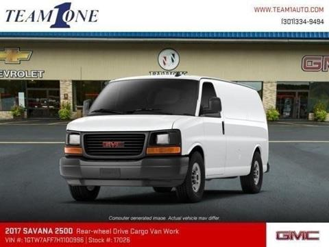 2017 GMC Savana Cargo for sale in Oakland MD