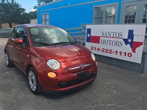 2013 FIAT 500 for sale at Santos Motors in Lewisville TX