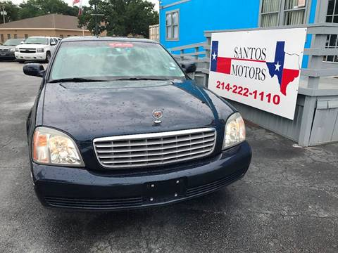 2004 Cadillac DeVille for sale at Santos Motors in Lewisville TX