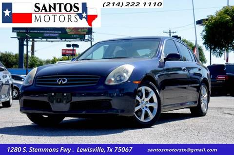2006 Infiniti G35 for sale at Santos Motors in Lewisville TX