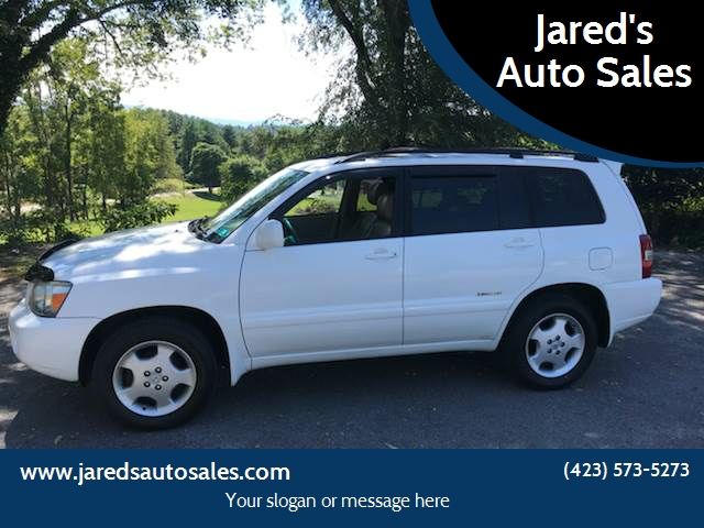 2007 Toyota Highlander For Sale At Jaredu0027s Auto Sales In Bristol TN