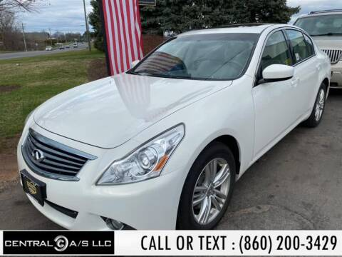 2012 Infiniti G37 Sedan for sale at Central A/S LLC in East Windsor CT