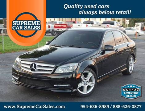 2011 Mercedes-Benz C-Class for sale in Oakland Park, FL