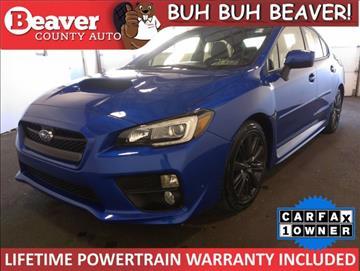 2016 Subaru WRX for sale in Beaver Falls, PA