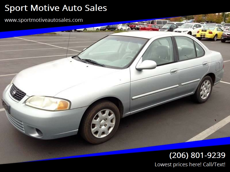 2002 Nissan Sentra For Sale At Sport Motive Auto Sales In Seattle WA