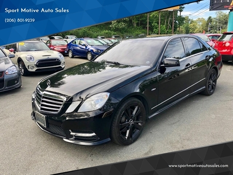 Mercedes Of Seattle >> 2012 Mercedes Benz E Class For Sale In Seattle Wa