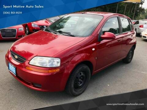 2007 Chevrolet Aveo for sale at Sport Motive Auto Sales in Seattle WA